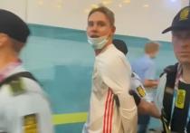 Задержанный полицией во время матча между сборными России и Дании российский болельщик Федор объяснил, зачем он выбежал на футбольное поле