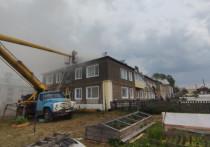 В Кировской области в городе Нолинске несколько домов пострадали в пожаре