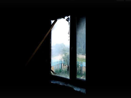 В Пермском крае показали последствия удара шаровой молнии по дому