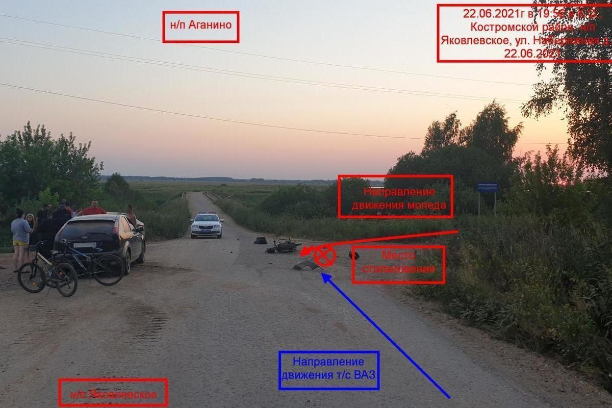 Костромские ДТП : бестолковый недо-мотоциклист столкнулся с пьяным водителем ВАЗа