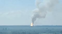 Пожар склада с порохом в Башкирии попал на видео