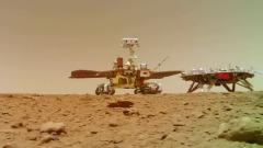 Опубликовано видео, присланное китайским марсоходом с поверхности Марса