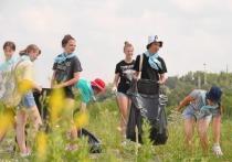 Серпуховичи почистили берег Оки
