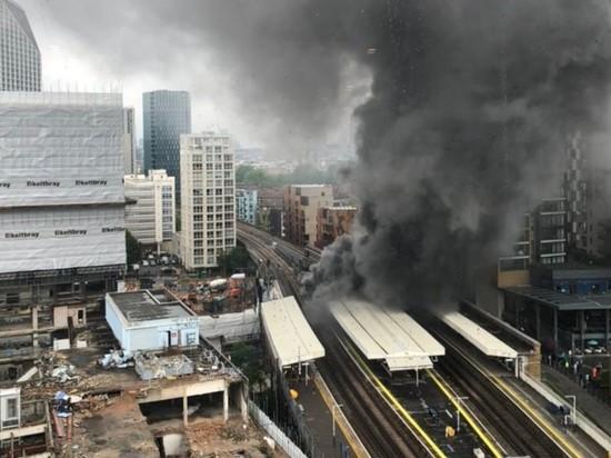 Мощный взрыв в Лондоне попал на видео