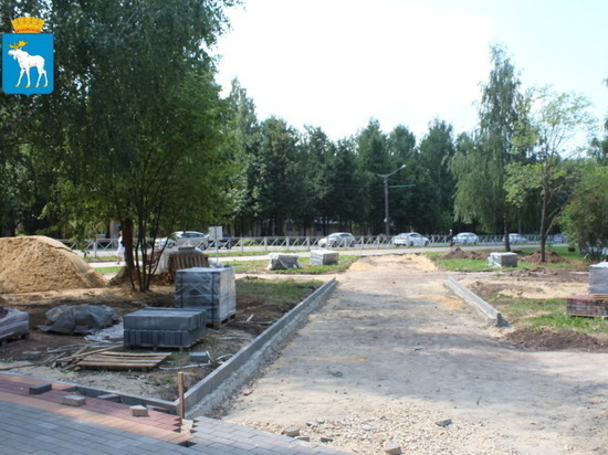 В Йошкар-Оле благоустраивается сквер на улице Йывана Кырли