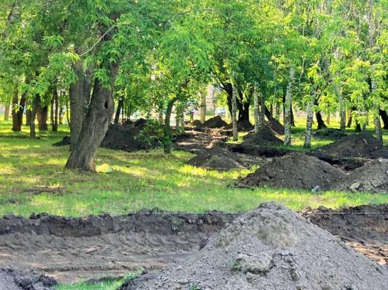 В парке «Изумрудном» приступили к очередному этапу благоустройства