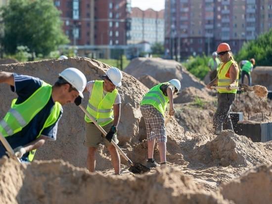 Работы на стройплощадке псковского исторического парка идут с отставанием от графика
