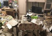 В квартире жителей Калуги обвалился потолок
