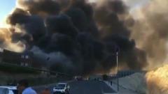 В Испании вторые сутки горят склады с хамоном