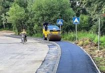 Ещё два тротуара обустраивают в Серпухове