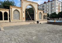 В Магасе благоустраивают аллею имени Ахмата Кадырова в центре города