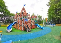 Новое игровое пространство для детей начали монтировать в селе рядом с Серпуховом