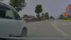 Кто виноват: двойное нарушение ПДД на кольцевой развязке в Южно-Сахалинске попало на видео