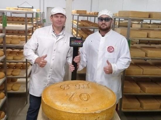 В Марий Эл изготовили самую большую в России голову твердого сыра