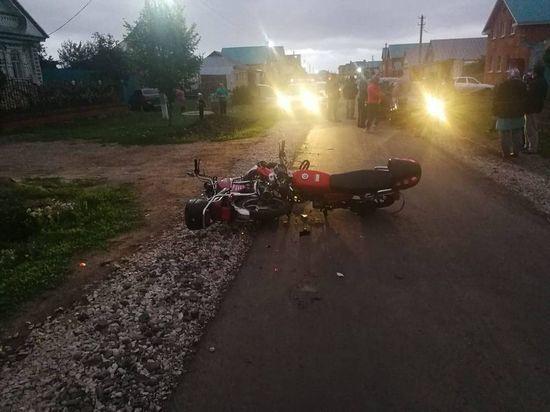 Два мопеда с водителями-детьми столкнулись в Чувашии