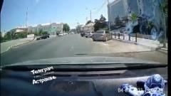 Астраханцы столкнулись с живым транспортом на проезжей части