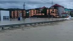 В Краснодарском крае разлившаяся река затопила село Лермонтово