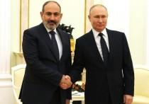 Пашинян летит на переговоры с Путиным в Москву