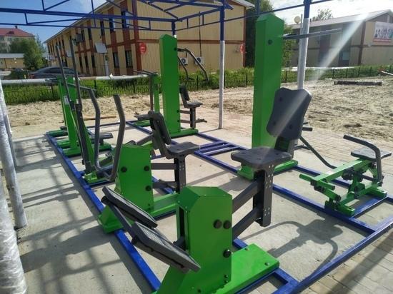 Качели, тренажеры, парковка: новую детскую площадку строят в Приозерном Надымского района