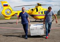 В пострадавший от подтоплений Сочи на вертолёте доставили партию вакцины от COVID-19