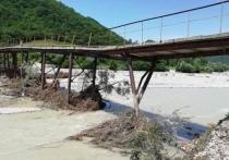 В Туапсинском районе рекой размыло опоры моста