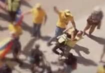Как сторонник партии AUR напал на полицейского