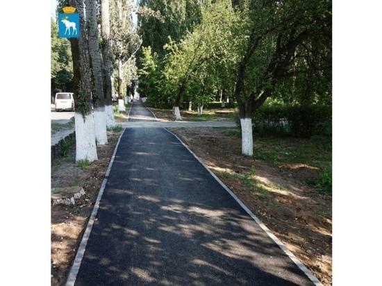 Ремонт тротуара на улице Суворова в Йошкар-Оле почти завершен