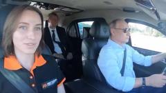 Путин за рулем Aurus проехал по ЦКАД: видео уверенной езды