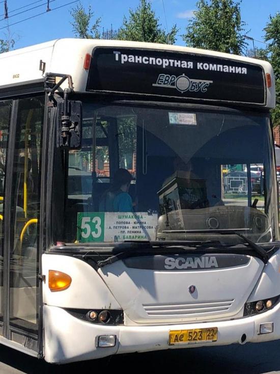 В общественном транспорте Барнаула проверили соблюдение масочного режима