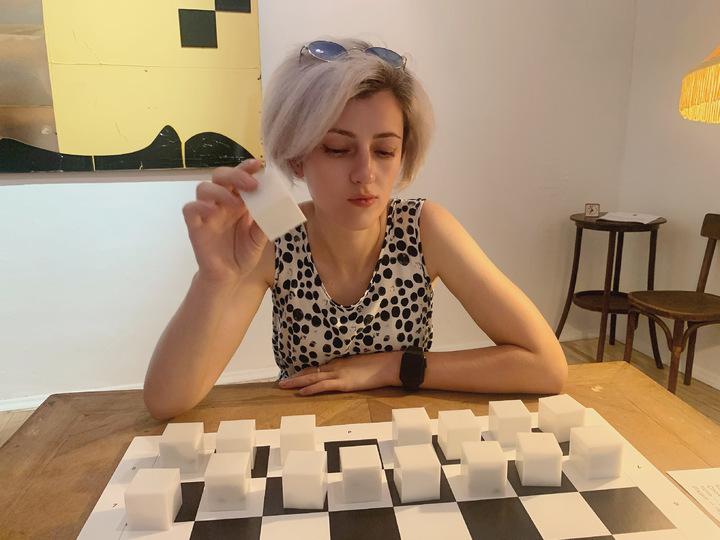 Дом Гоголя превратили в шахматную игру