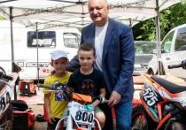 Додон принял участие в открытии Чемпионата Молдовы по мотокроссу