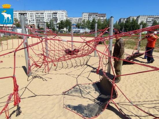 В Йошкар-Оле начат демонтаж веревочного городка