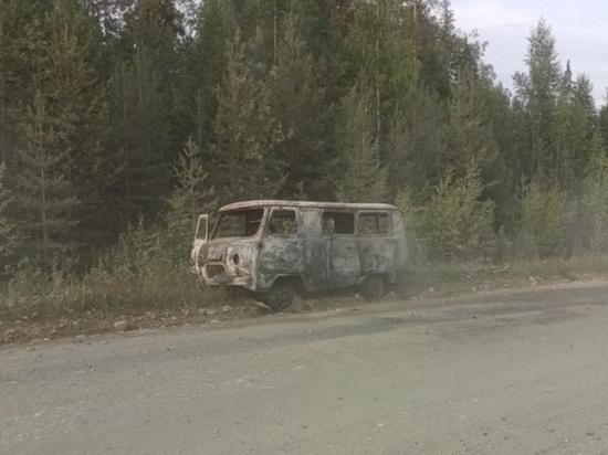 В Холмогорском районе на ходу сгорел автомобиль