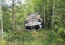 В Костромской области пьяный «шумахер» перевернул иномарку на крышу