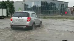 Столицу Бурятии Улан-Удэ затопило после сильного ливня: видео