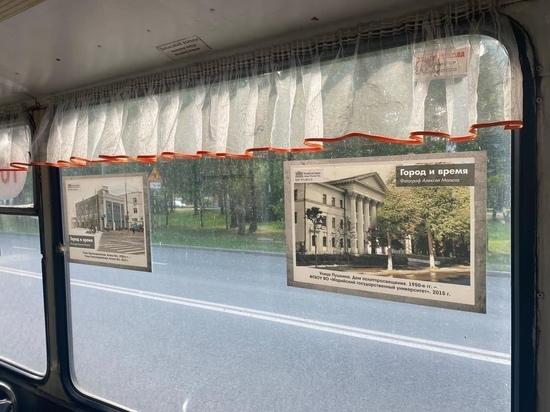 В троллейбусе Йошкар-Олы проходит фотовыставка «Город и время»