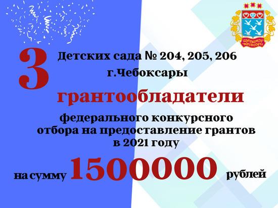 Три чебоксарских детских сада получат гранты на 1,5 млн рублей