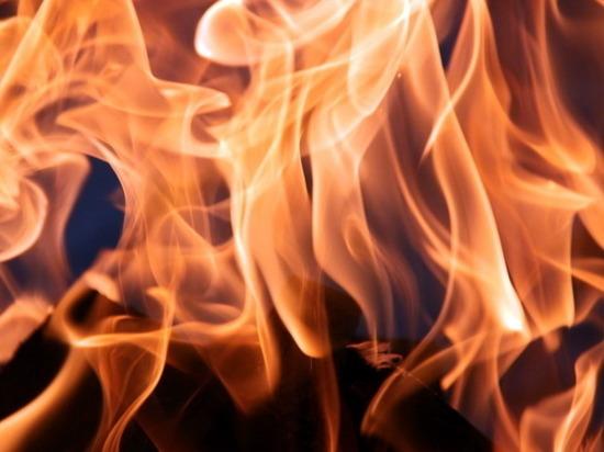 11 пожарных тушили огонь в частном хозяйстве в Марий Эл