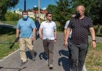 Псковский губернатор раскритиковал качество работ по реконструкции улицы Л. Поземского