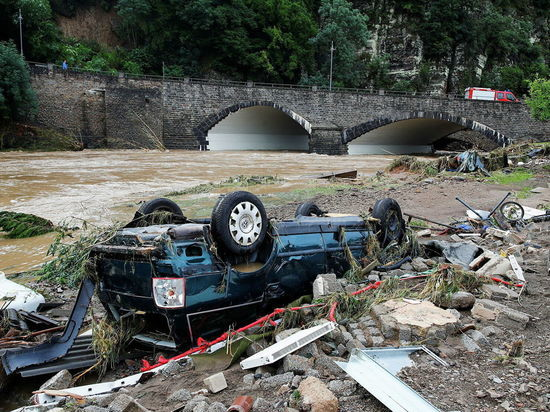 Германия: Из-за наводнения не ходят поезда на границе с Чехией