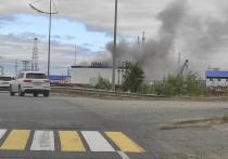 Пустой бокс горел в Новом Уренгое