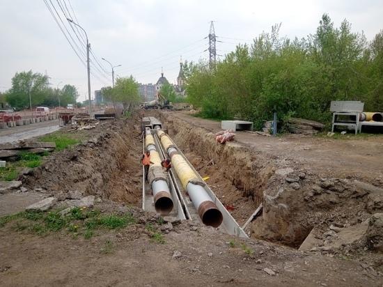 В Красноярске на правобережье ограничили движение из-за ремонта теплосетей до осени
