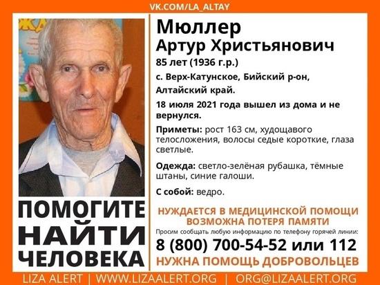 Пожилой мужчина с ведром пропал без вести в Алтайском крае