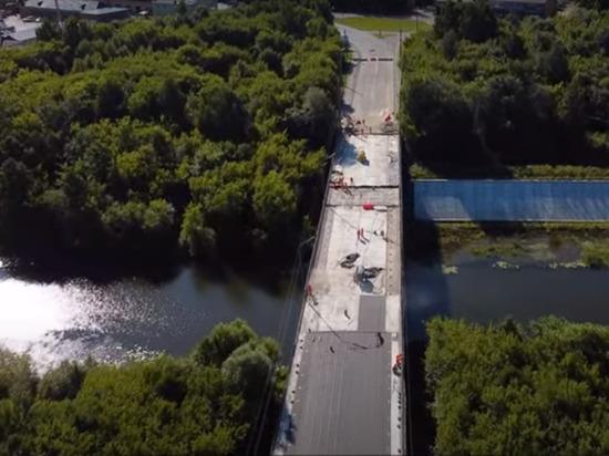 Ремонт Вараксинского моста в Йошкар-Оле сняли на видео