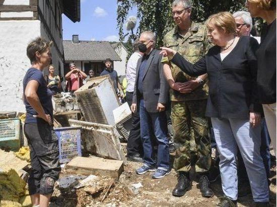 Германия: Меркель потрясена масштабами разрушений и числом жертв