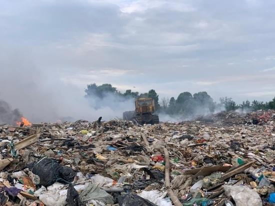 В Рязани произошел пожар на городской свалке площадью 800 квадратных метров