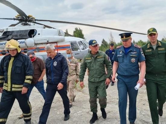 Глава МЧС России Евгений Зиничев прилетел в Найстенъярви