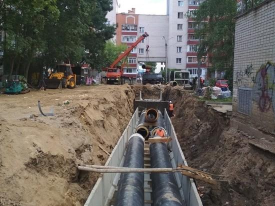 В Смоленске на трех улицах заменили 1,5 километра теплосетей