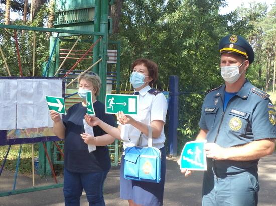 В курских детских загородных лагерях проходят занятия по безопасности