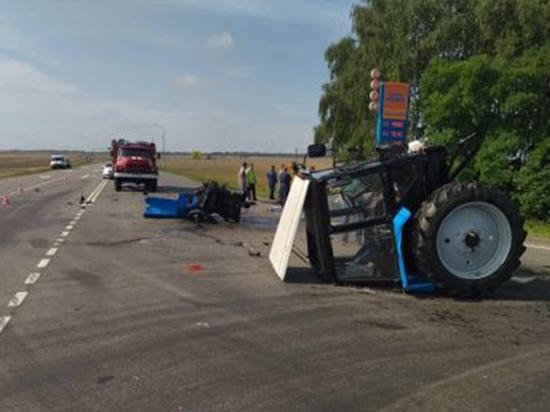 На Брянщине в ДТП столкнулись трактор и легковушка